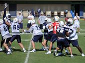 San Diego Chargers On The Practice Field