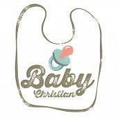 Vintage Christian design - Baby