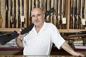 stock photo of gun shop  - Portrait of a middle - JPG