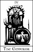 Tarot tarjeta de emperador