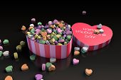 Valentine's Day Heart Shaped Candy Box