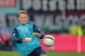 VIENNA,  AUSTRIA - SEPTEMBER 11 Manuel Neuer (#1 Germany) catches the ball during the WC qualifier s