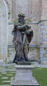 Statue Of The Apostle Paul. Bruges, Belgium