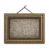 image of gobelin  - Vintage picture frame on the white isolated background - JPG