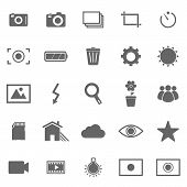 Photography Icons On White Background