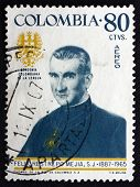 Postage Stamp Colombia 1967 Father Felix Restrepo Mejia, Theolog