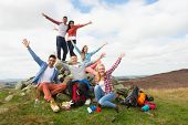 picture of 16 year old  - Group Of Young People Hiking In Countryside - JPG