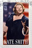 A stamp printed in USA shows Kate Smith