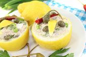 Stuffed Lemons With Tuna Cream And Eggs