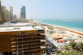 Dubai, Uae - September 11: The View On Construction Of The New Hotel And  Construction Of The 210-me