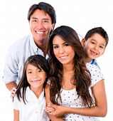 foto of toothless smile  - Beautiful family portrait smiling  - JPG