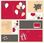 Illustration For Happy Birthday Card.