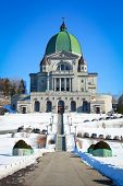 Beautiful view of St-Joseph's Oratory during winter