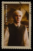 UNITED STATES - CIRCA 2013: postage stamp printed in USA showing an image of Draco Malfoy a Harry Potter main character, circa 2013.