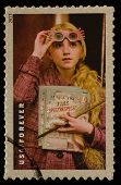 UNITED STATES - CIRCA 2013: postage stamp printed in USA showing an image of Hermione Granger a Harr