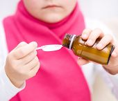 Hands Holding Medicine Health Care Syrup