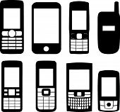 Mobile Phones Silhouettes
