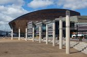 Cardiff Millennium Centre In Cardiff Bay,wales.main Donald Gordon The