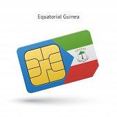 Equatorial Guinea mobile phone sim card with flag.