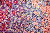 stock photo of mulberry  - Sweet color flowers from mulberry paper - JPG
