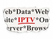Web development concept: IPTV on Paper background