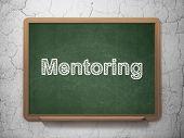 Education concept: Mentoring on chalkboard background