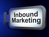 Business concept: Inbound Marketing on billboard background