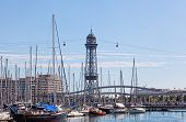 Marina Port Vell and the Rambla del Mar in Barcelona