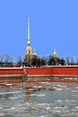 Peter and Paul Fortress in St. Petersburg during spring break