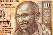 Mahatma Gandhi picture on Indian Rupee Currency note
