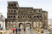 The Roman Gate In Trier, Germany