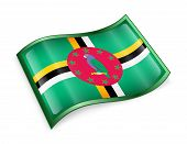 Dominica Flag Icon.