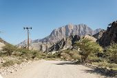 pic of jabal  - Desert running through the mountains - JPG