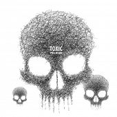 foto of hairy  - Vector Illustration of Taxicated Skulls - JPG