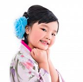 Asian little girl smile