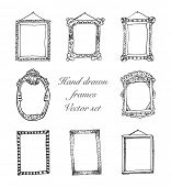 hand drawn frames eps 8