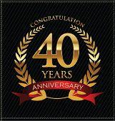 anniversary golden laurel wreath