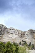 stock photo of mount rushmore national memorial  - Presidents of Mount Rushmore National Monument South Dakota USA - JPG