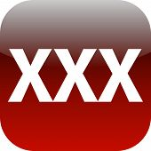 pic of pornographic  - red XXX button or icon for phone web internet app - JPG