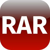 Archive Rar Red Icon For Apps