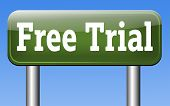 free trial product test sample road sign arrow. Try it for free and test the products