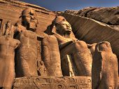 Statues At The Entrance To The Abu Simbel Temple (egypt)