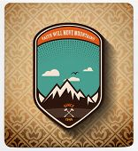 vector. Adventure badge design.All items in layers