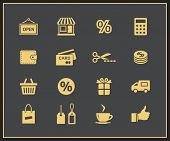 Shopping and promo icons. Vector illustration