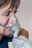 Woman With Hyperventilation Mask