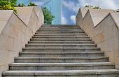 Stairs to the sky,cityscape of modern city