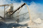 picture of sand gravel  - Industrial background  - JPG