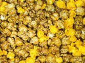 Caramel An Chesses Popcorn Closeup/popcorn