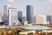 Osaka skyline and skyscraper building Japan