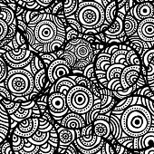 Hand drawn ethnic circles seamless